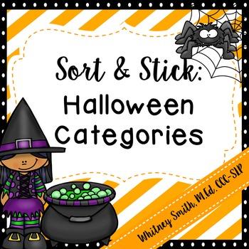 Sort and Stick: Halloween Categories