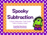 Spooky Subtraction Task Cards (Includes Mystery Code!)