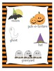 Spooky Words - Halloween Adjective Noun Match Up