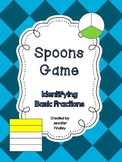 Spoons Game: Identifying Basic Fractions *Very Engaging*