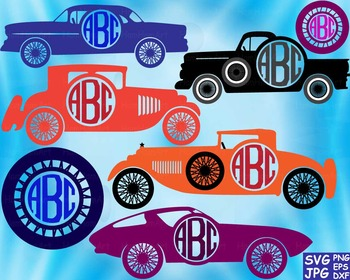 Sport Cars Circle Cutting Files Clip Art svg car truck ret