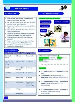 Sport-Fitness- Speaking Activities for Students