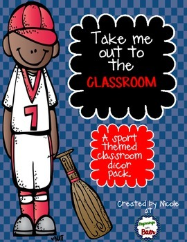 Sport Theme Classroom Decor Pack