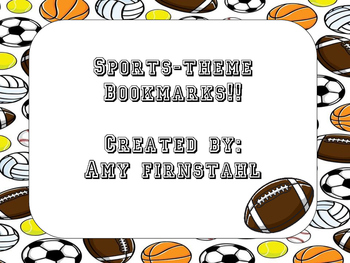 Sports-theme Bookmarks!