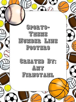Sports-theme Number Line Posters...BUNDLE!