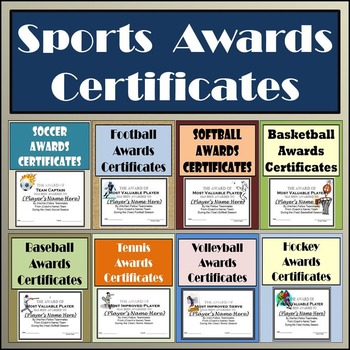 Sports Awards Bundle: Certificates & Ballots - Eight Diffe