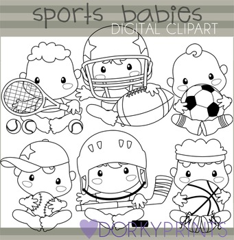 Sports Babies Clip Art