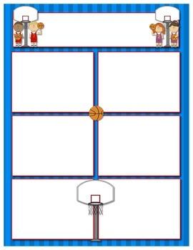 Sports Basketball Classroom Newsletter Template