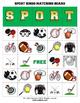 Sports Bingo Matching Activity with flashcards