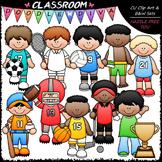Sports Boys Clip Art - Sports Kids Clip Art - CU Clip Art