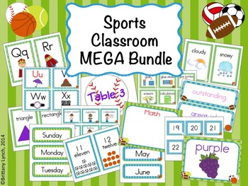 Sports Theme Classroom MEGA Bundle (editable)