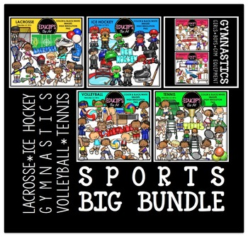 Sports Clip Art Big Bundle