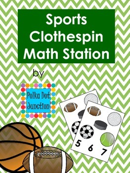 Sports Clothespin Math Station