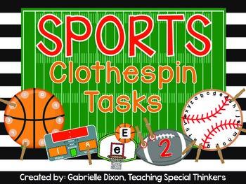 Sports Clothespin Tasks