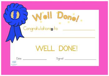 Sports Day Award Certificates