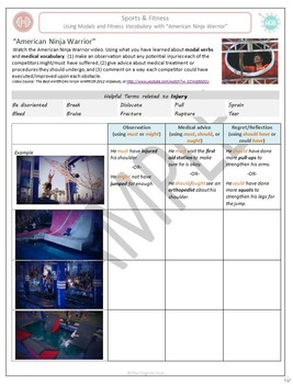 Sports & Fitness (A): Practice modals with Ninja Warrior (