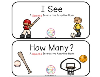 """Sports Interactive Adaptive books - set of 2 (""""I See and """""""