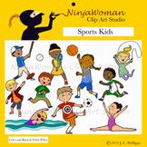 Sports Kids Clip Art