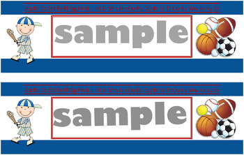 Sports Name Tags-Blue (PDF)