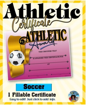 Certificate - Sports Participation …Soccer