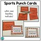 Sports Punch Cards (Positive Behavior Incentive Program)