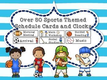 Sports Schedule Cards