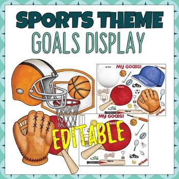 Sports Stars Student Goal Display - Sports Themed