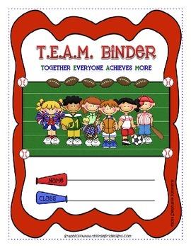 Sports {Team} Binder Cover