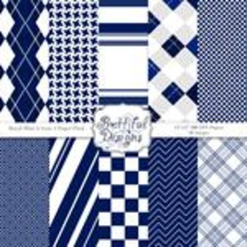 Sports Team Color Papers Royal Blue and Gray