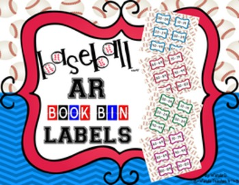 Sports Theme AR Book Bin Labels - Baseball