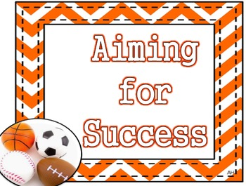 Sports Theme - Aiming for Success - Student Success Poster