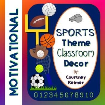 Sports Theme Classroom Decor {Posters, Templates & More}