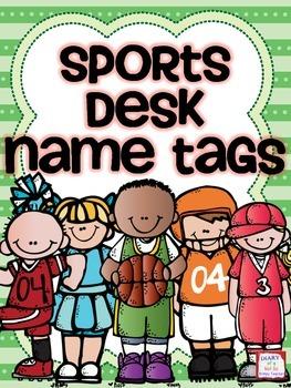Sports Theme Desk Name Tags
