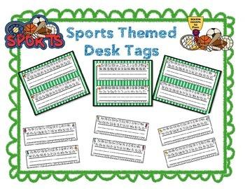 Sports Theme - Desk Tags