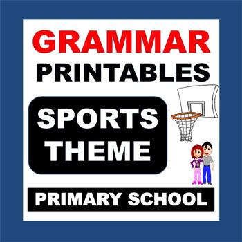 EASY GRAMMAR PRINTABLES - Sports Theme Packet, NO PREP, Pr