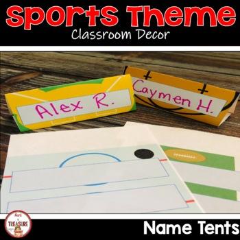 Sports Theme Name Tags