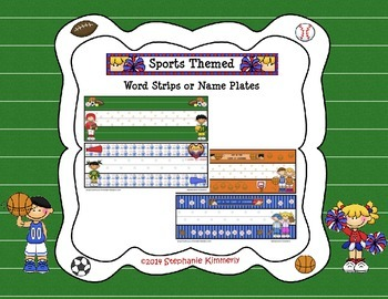 Sports Theme Name or Word Strips