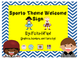 Sports Theme Welcome Banner/Sign