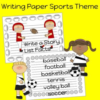 Sports Theme Writing Paper