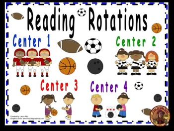 Sports Themed Daily Automated Centers/Guided Reading Rotat