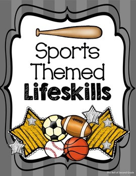 Sports Themed Lifeskills Posters Gy/Y {Other colors availa