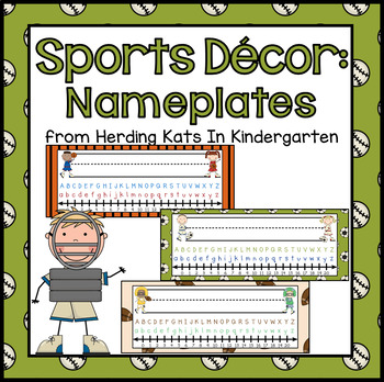Sports Themed Nameplates