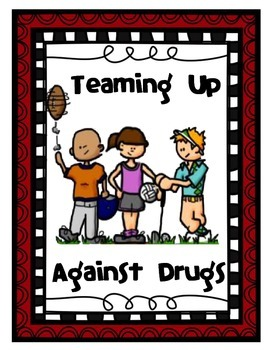 """Sports Themed Red Ribbon Week Unit - """"Teaming Up Against Drugs"""""""