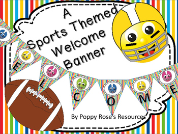 Sports Themed Welcome Banner
