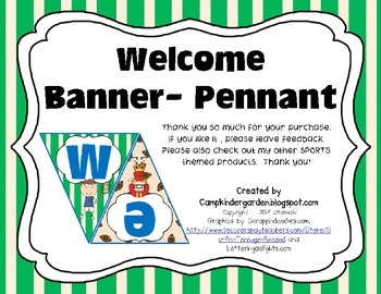 Sports Themed Welcome Banner, Pennant Style