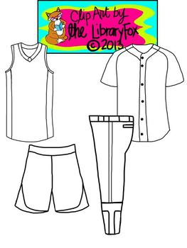 Sports Uniform Blacklines for Personal or Commercial Use