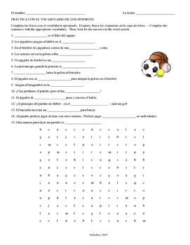 Sports Vocab Word Search