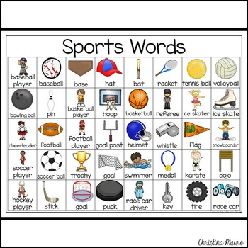 Sports - Writing Words