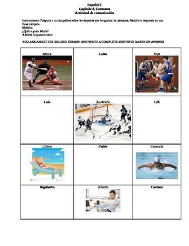 Sports and Hobbies communicative activity
