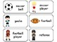 Sports themed printable Picture Word Flashcards. Preschool